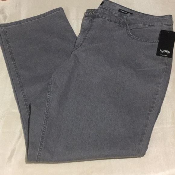 8df3edbea6a Jones New York Lexington Straight Stretch Jeans